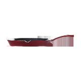 100年传世 铸铁珐琅牛排煎锅浆果红/无盖/直火电磁炉通用
