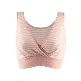 孕产妇背心式可哺乳文胸粉色条纹*M