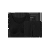女式竹纤维内衣套装黑色套装*XS