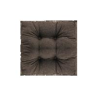 帆布丝羽绒多用坐垫深褐