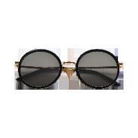 女式复古全框圆形墨镜复古黑