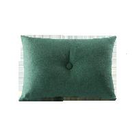 简约全棉帆布抱枕木野绿