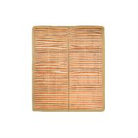 天然寬篾頭層青碳化竹涼席150 x 195cm*抹茶色