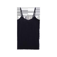 女式精梳棉bra吊带黑色*XS