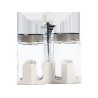 簡雅式玻璃調味瓶系列2只帶提手裝