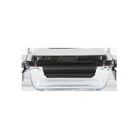 便携含餐具 玻璃保鲜盒保鲜盒-黑色中号600ml