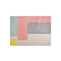 清新趣粉系列居家地毯160 x 230cm*青粉拼接