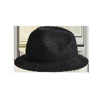 100%羊毛 绅士轻薄毛毡帽绅士黑