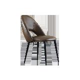現代簡約餐椅 2把棕色