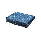 新色 纯棉水洗色织格薄被藏蓝+白150*200cm