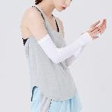 男/女防紫外線冰感袖套黑色*2(粘合指口)