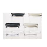 日本制造 可叠加厨房收纳盒(单个装)黑白套装(大号*2+小号*2)