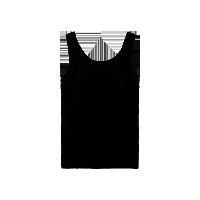 女式精梳棉bra背心黑色*S