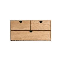 日式木质收纳盒 2层水曲柳
