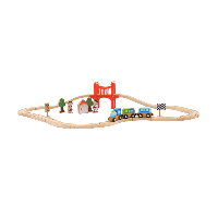 儿童木制轨道玩具32件组
