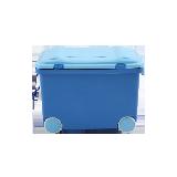 儿童滚轮式玩具收纳箱蓝色*1个