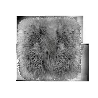 皮毛一體多用長毛坐墊碳灰