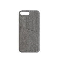 简约木纹手机壳黑灰色*iPhone 7 Plus/8 plus