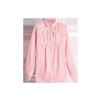 双层纱孕产妇衬衣 可哺乳粉色*M