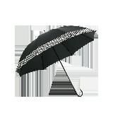 長柄色膠布遮陽晴雨傘黑色