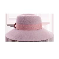 优雅女士宽檐毛毡帽香芋紫