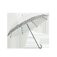 長柄色膠布遮陽晴雨傘米色