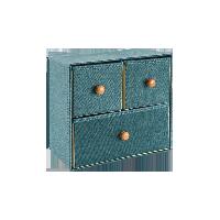 抽屉收纳柜 两层墨绿