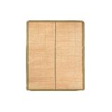 平滑細篾頭層青碳化竹涼席180 x 200cm*抹茶色
