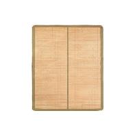 平滑細篾頭層青碳化竹涼席150 x 195cm*抹茶色