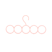 丝巾架 5格粉色2件装