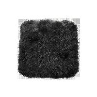 皮毛一體多用長毛坐墊黑色