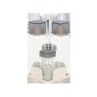 簡雅式玻璃調味瓶系列4只帶提手裝