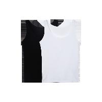 女式皮马棉基础背心黑+白 两件*L