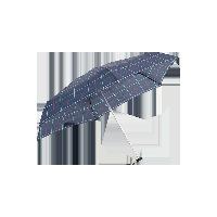 超輕布五折傘藍色格子
