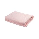 新色 纯棉水洗色织格薄被粉色+白150*200cm