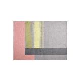 清新趣粉系列居家地毯160 x 230cm*灰黄条纹
