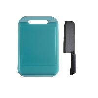 透明菜板+陶瓷菜刀2件套双面抗菌防滑实体菜板(中号)+精密氧化锆陶瓷菜刀