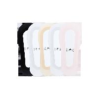 清心冰感浅口隐形女袜黑色+白色+粉色+肤色+浅灰