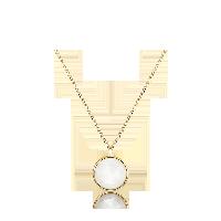 英国 玫瑰切割 14K金宝石项链月光石项链