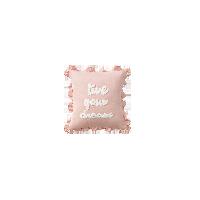 童趣 居家抱枕字母绣花抱枕45x45cm