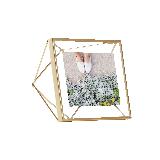 立體菱形相框金色4寸