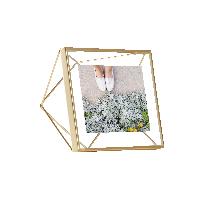 立体菱形相框金色4寸