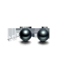 大溪地黑珍珠耳饰(多款可选)经典耳针款*8-9mm