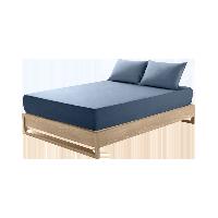莱卡针织素色床笠  升级款深海蓝*1.5M床:150*200*28cm(适用厚度28cm以下的床垫)