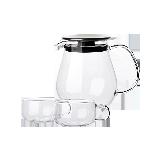 水滴壺 日式玻璃茶壺套組3件裝 大號壺 720ml*1+茶杯 130ml*2