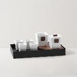 对白茶具茶盘礼盒7件套1壶1海4杯1茶盘