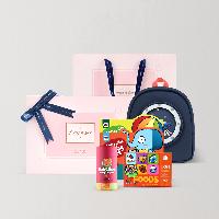 儿童学习成长礼盒 诗情爱意(礼盒)星空背包+蜡笔+识字卡片+绘本2本