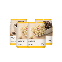 水果坚果裹心巧克力豆 36克草莓白巧克力*2袋+巴旦木牛奶巧克力*2袋
