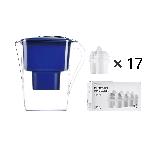 年購裝 凈水壺+濾芯超值套組【全家版-藍色】1壺17芯(適用12~17個月)