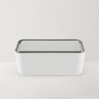 网易智造插线板收纳盒灰白色